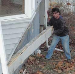 Rehabbing houses replacing rim joists