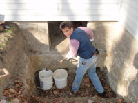 Digging crawlspace