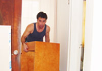 Install bathroom vanity base