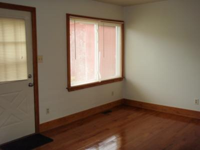 Rental unit with hardwood floor
