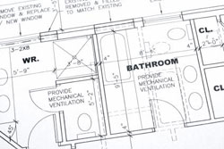 bathroom layout blueprint
