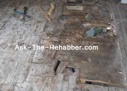 Sub-floor damage