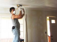 joe the rehabber sanding ceiling