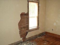 Plaster wall damage